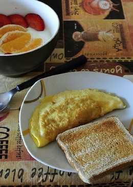 Desayuno con tortilla de pechuga de pavo