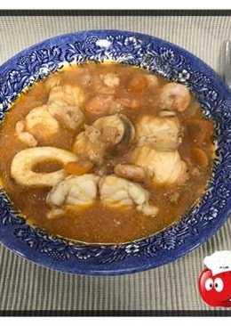 Caldereta de pescado y marisco en crock-pot