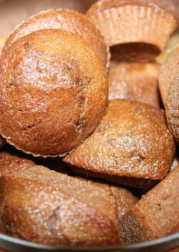 Magdalenas de chocolate y calabacín