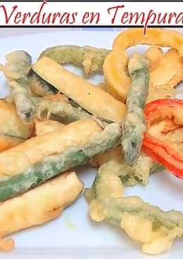 Verduras en tempura sin huevo