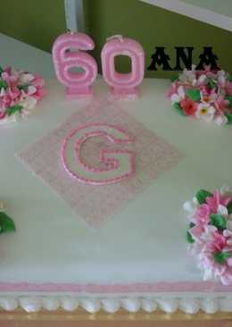 Torta alverjillas cumpleaños de 60