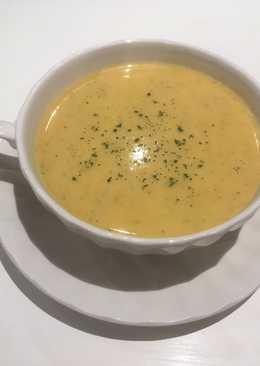 Crema de calabacines, brócoli y zanahorias