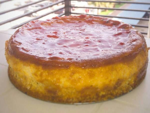 Tarta de queso fácil al horno