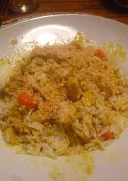 Pollo al curry y arroz Basmati