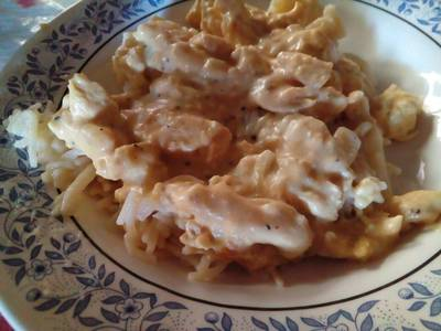 Fajitas de pollo en salsa de Ajo
