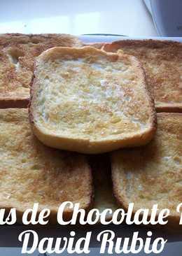 Torrijas de chocolate blanco al horno