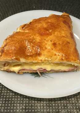 Hojaldre de jamón York y queso