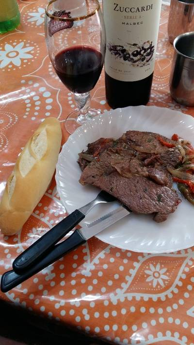 Carne con vegetales
