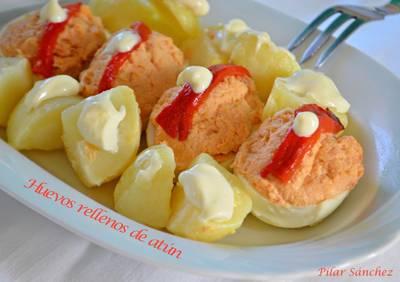 Huevos relleno de atún (Thermomix)