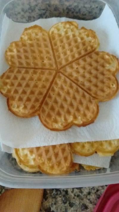 Waffles esponjosos (para wafflera eléctrica)