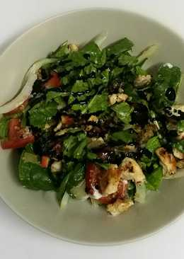 Ensalada templada de pollo con quinoa y espinaca!!