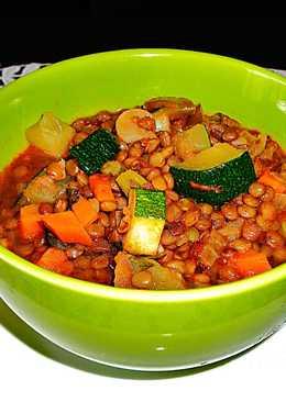 Lentejas con verduras variada - vegetariana
