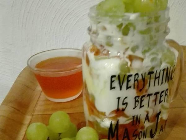 Lunch/almuerzo ligero en mason jar (tarro con tapa)