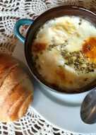 Huevos con champiñones a la cazuela
