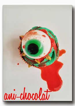 Cupcakes Halloween!! (chocolate y pistacho)
