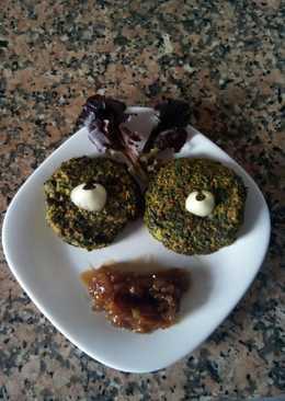 Hamburguesas de kale con lentejas