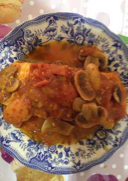 Salmon con champi ones 20 recetas caseras cookpad - Salmon con champinones ...