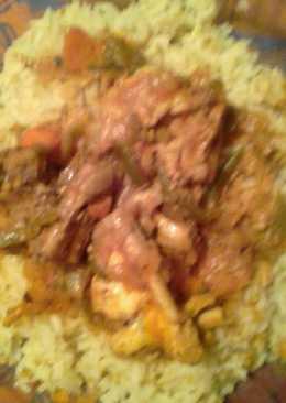 Arroz frito con pollo y verduras mi 👸