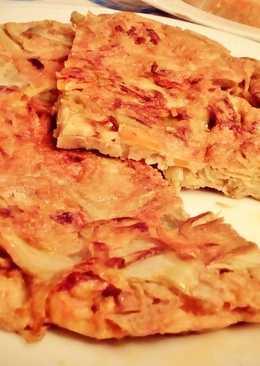 Tortilla de alcachofas con zanahoria