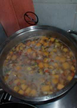 Guisito de lentejas con verduras