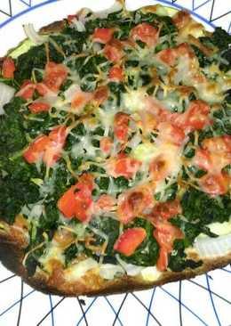 Falsa pizza de calabacín y espinacas