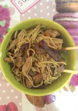 Noodles con shiitake