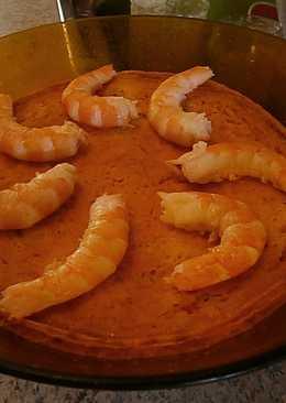Pastel de cangrejo y espárragos (microondas)