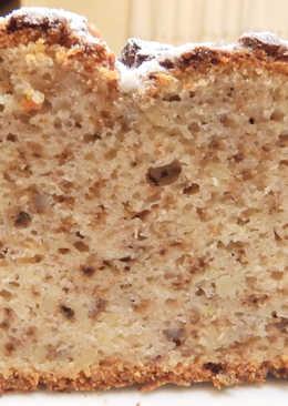 Pan dulce con platano y nueces