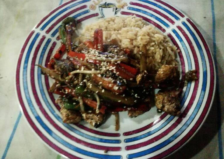Chop Suey de cerdo y verduras a la Plancheta