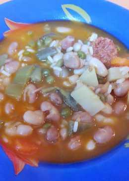 Potaje de verduras y legumbres