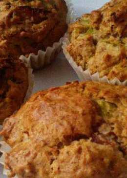 Muffins de puerro y jamón