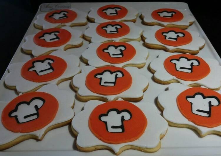 Galletitas con el logo Cookpad