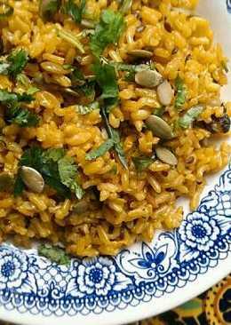 Arroz Integral con Cúrcuma y Curry