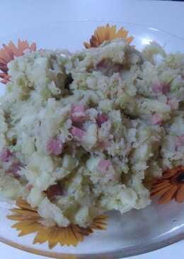 Patata con col y jamón