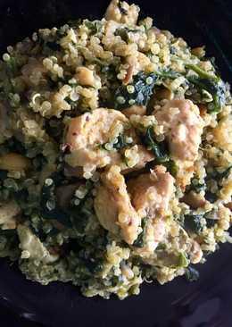 Quinoa con pollo al curry completa