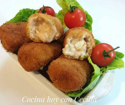 Croquetas de jamón serrano con robot de cocina (Monsieur Cuisine Plus)