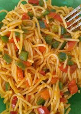 Espaguetis con pimientos Sin Gluten