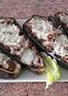 Receta de berenjena rellena con carne picada / comida de Marruec