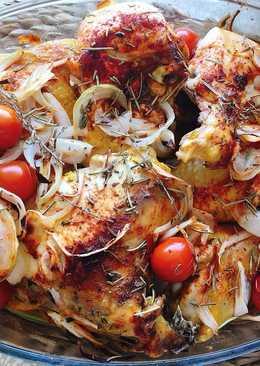 Pollo asado al pimentón y las hierbas provenzales