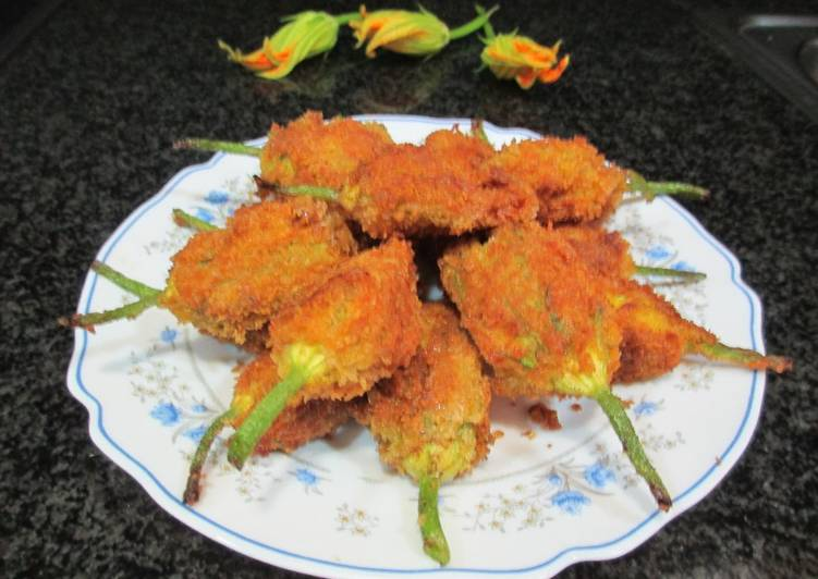 88 flores de calabac n rellenas de carne receta de - Flores para cocinar ...