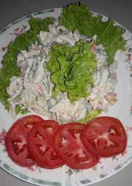 Salpicón de pollo (con mayonesa casera)