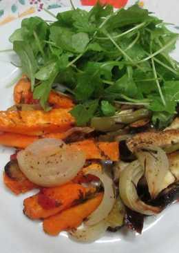 Bastones de verduras horneados