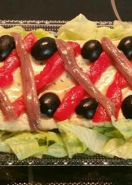 Pastel salado de anchoas