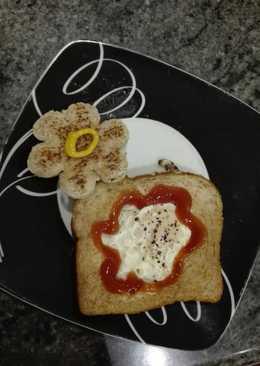 Cena huevo en pan