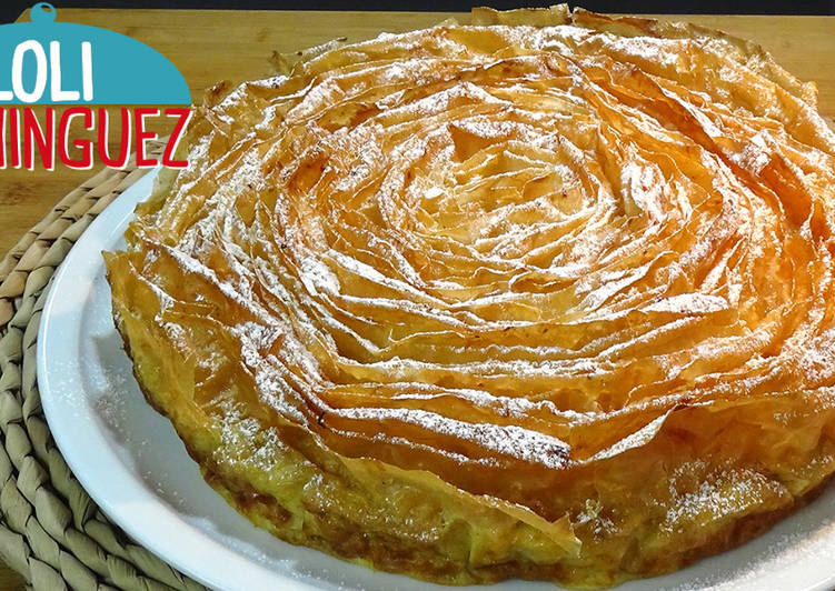 Ruffled Milk Cake (Galatopita, pastel Griego rizado)