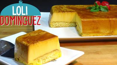 Tarta de flan con queso y sobaos receta sin horno