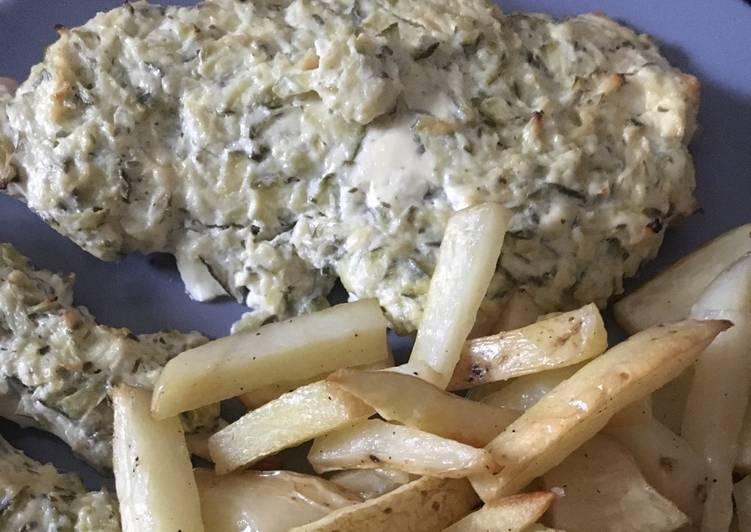 Pechuga de pollo al horno con calabac n queso y patatas for Pechugas de pollo al horno con patatas