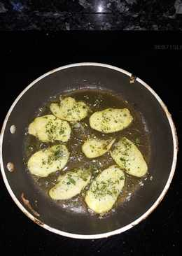 Esnacks de Jengibre tostado con ajo y perejil