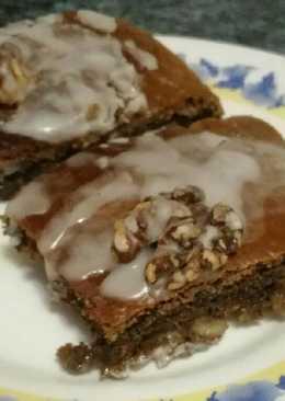 Brownie de cafe,nueces y chocolate blanco