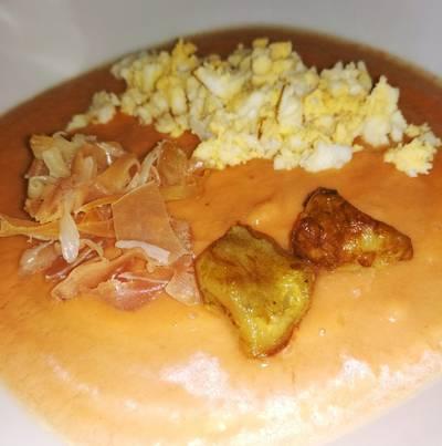 Salmorejo de tomate y berenjena (sin gluten)
